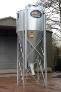 New Hopper Bin - This is designed specifically for straights and powered products and is the steepest hopper of meal bins on the market in Ireland and UK.