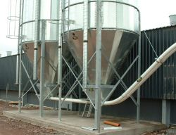 Twin Silo Feeding System - Crowley Engineering Ireland